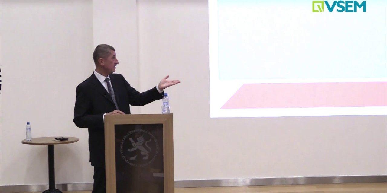 Hosté VŠEM – Andrej Babiš – Diskuze se studenty VŠEM (video)